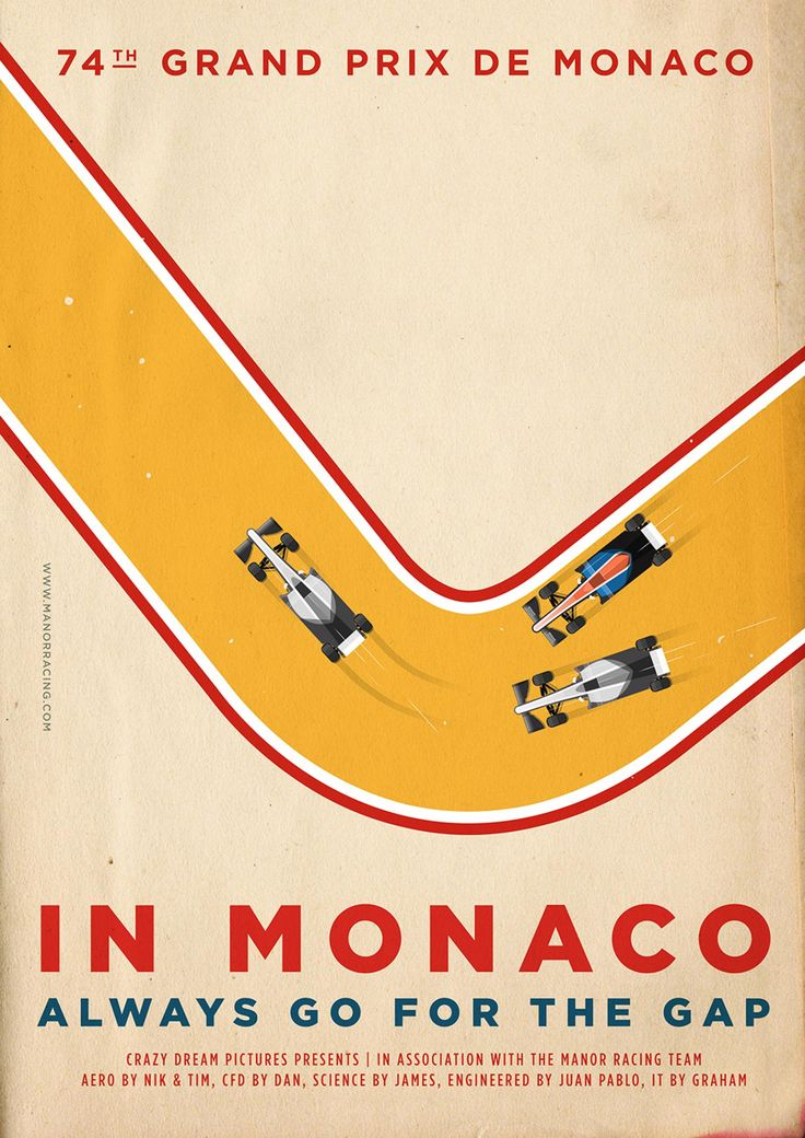 Poster - Manor Racing - Monaco