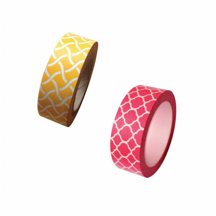 Spanish Tile Japanese Paper Washi Tape - Available in 2 Styles! [Decorate Spanish Tile Washi Tape] : Wholesale Wedding Supplies, Discount Wedding Favors, Party Favors, and Bulk Event Supplies