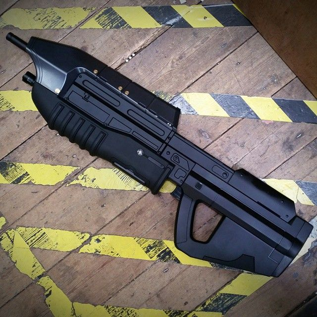 It has finally landed in store.  #patrolbase #airsoft #halo #mastercheif #pewpew #noscope #cosplay #ammocounter #unitedkingdom #assaultrifle #redteam #blueteam #microsoft #xbox #cortana