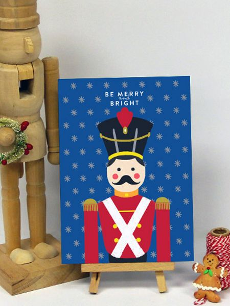 Nutcracker Holiday Greeting Cards by Oubly.com
