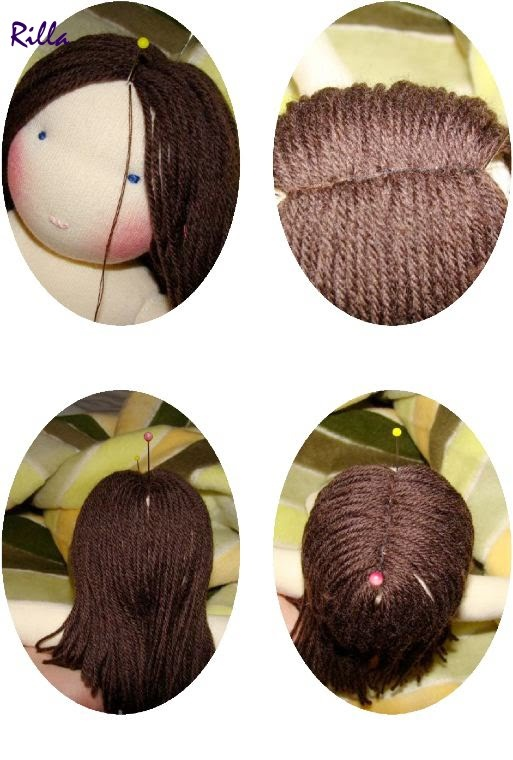 Waldorf doll hair making
