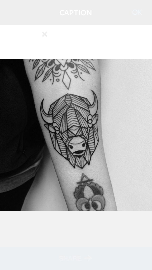 Buffalo/Bison Tattoo Tattooed by Noelle LaMonica Divine Machine Tattoo - Buffalo NY