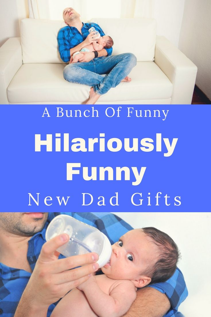 Funny and humorous new Dad gifts. Great ideas that can be given from wife or friends. Gift ideas for first time fathers. Includes new dad survival kit gift ideas.