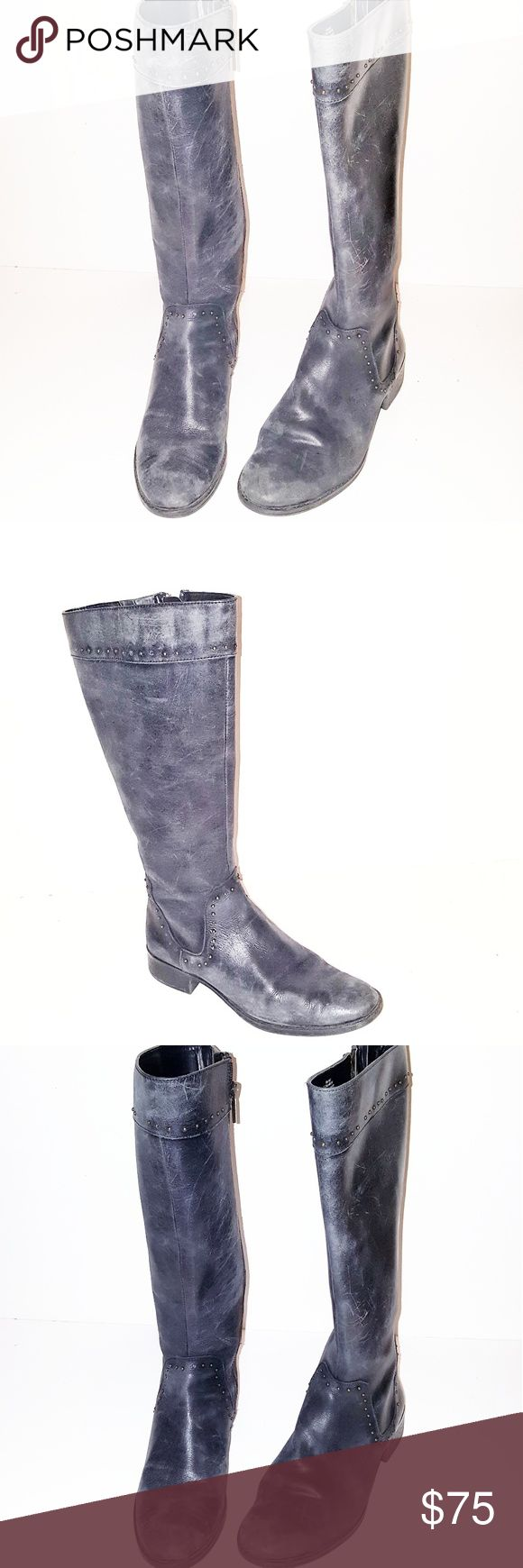 "Vintage Distressed Joan & David Boots Vintage distressed black Joan & David boots. 12"" shaft. 1"" heel. Dark charcoal gray.  Size: 8M US Condition: Distressed Vintage Condition Joan & David Shoes Winter & Rain Boots"
