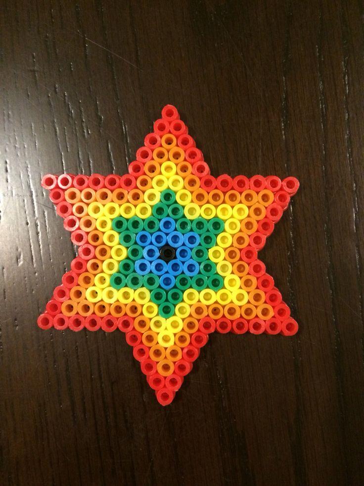 Hama bead rainbow star