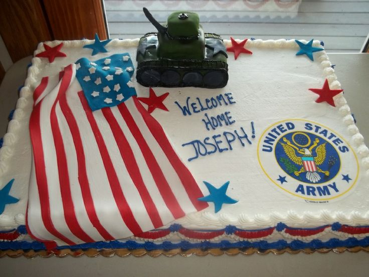Lovely Army Welcome Home Cake