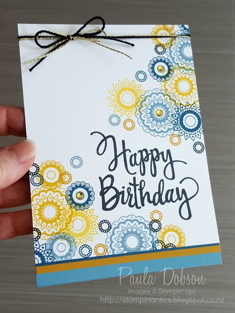 Stampinantics: CASE THE DESIGNER AT GDP064 - CONNIE COLLINS | Paisleys & Posies, Stylized Birthday