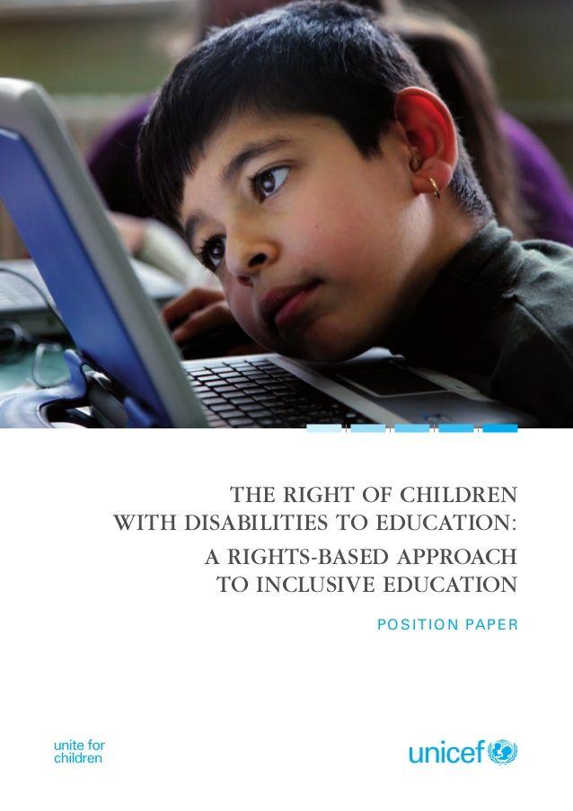 Educacion y discapacidad infantil  un derecho. educacion inclusiva by Marta Montoro  via slideshare