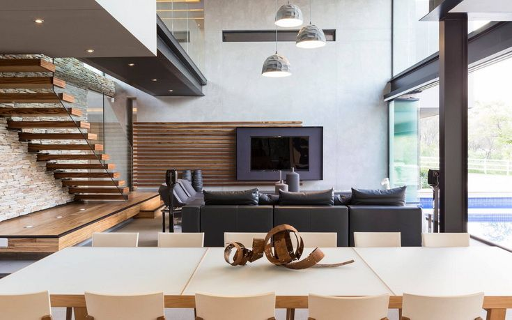 House in Blair Atholl | Living and Dining | Nico van der Meulen Architects | M Square Lifestyle Design | M Square Lifestyle Necessities #Design #Architecture #Interior #Furniture #Timber