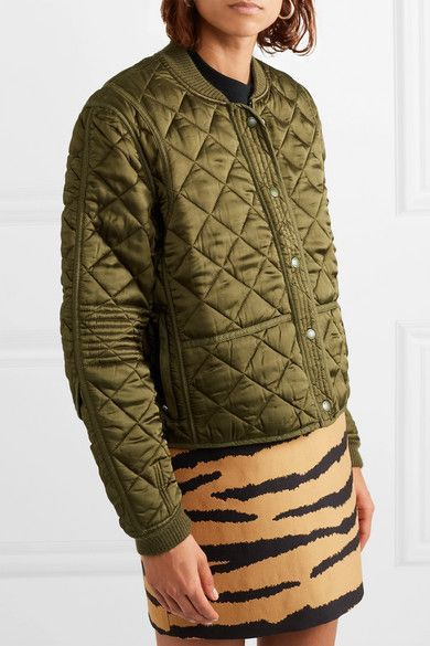 Schouler Satin com Pswl A Quilted Jacket Proenza Porter Bomber Net qvHnwAHFx