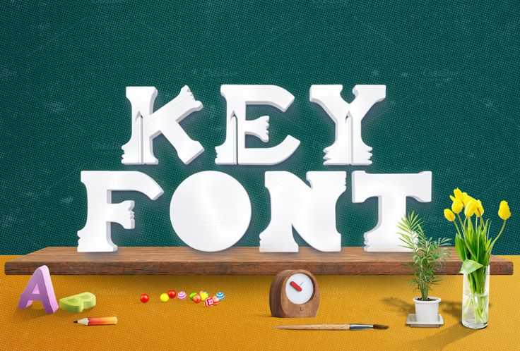 Keyfont by MAGOO STUDIO on Creative Market
