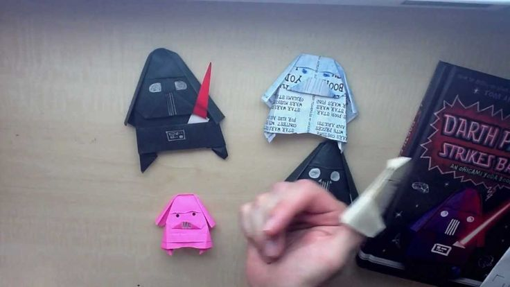 Darth Paper Strikes Back: An Origami Yoda Book by Tom Angleberger, via YouTube.-- I think I'm gonna devote my afternoon to star wars origami