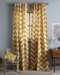 Mustard Chevron Curtains