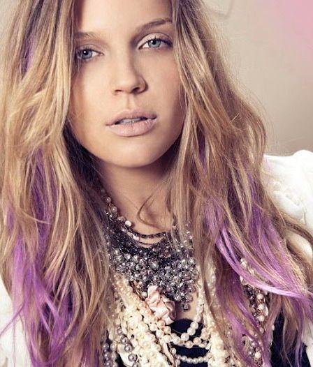 Purple Hair Streaks
