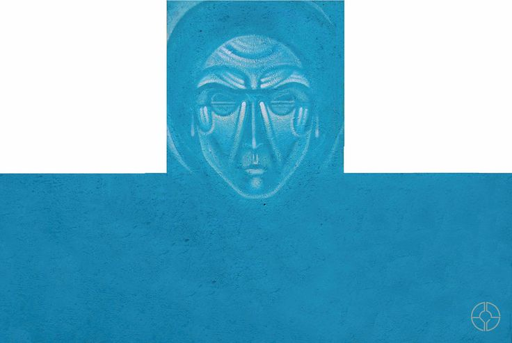 Sergii Radkevych 2014 Apostle Thomas. Acriclic, aerosol. wooden plate, 100x150 cm