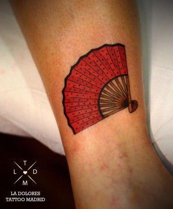 Tatuaje de un abanico