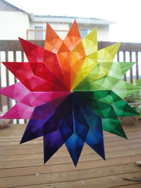 rainbow window star