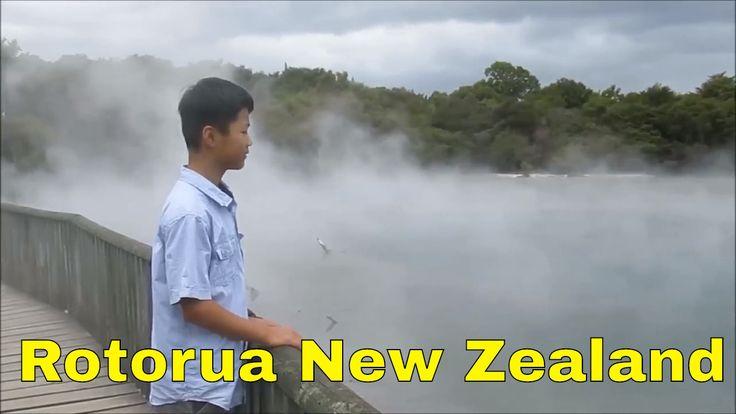 A boiling gethermal lake in Kuirau Park, Rotorua