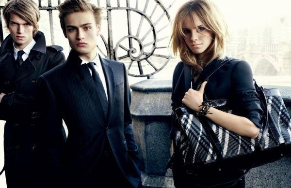 Douglas Booth with Emma Watson for Burberry