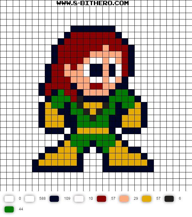 342 best Marvel 8 Bit Perler Bead Patterns images on