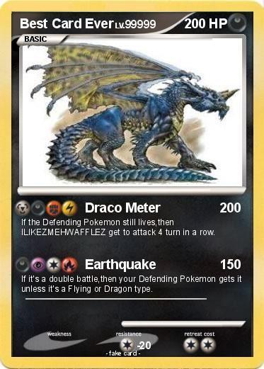 Best Pokemon Card Ever | Pokémon Best Card Ever 8 8 - Draco Meter - My Pokemon Card