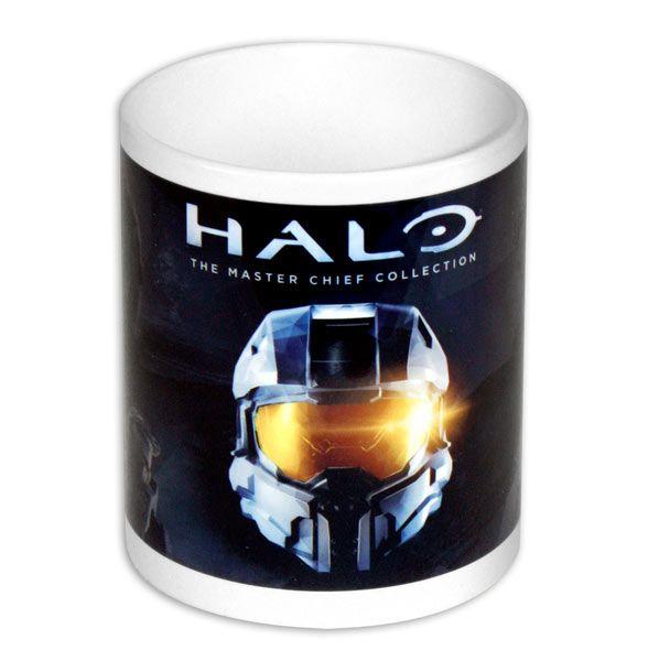 Taza Master Chief. Halo Taza con la imagen del casco del protagonista Master Chief, del popular videojuego Halo.