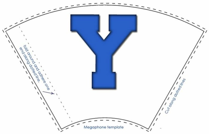 byu megaphone treat template byu is loved at weggermont yl banquet. Black Bedroom Furniture Sets. Home Design Ideas