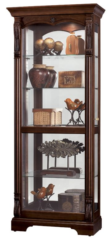 Curios Bernadette Curio Cabinet In Cherry Dining Room Table Sets Bedroom Furniture Cabinets And Solid Wood