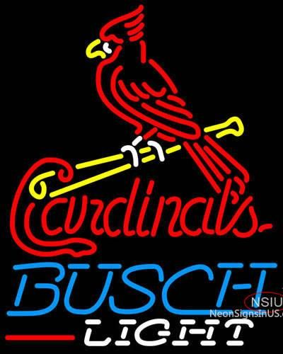 Busch Light St Louis Cardinals MLB Real Neon Glass Tube Neon Sign,Affordable and durable,Made in USA,if you want to get it ,please click the visit button or go to my website,you can get everything neon from us. based in CA USA, free shipping and 1 year warranty , 24/7 service