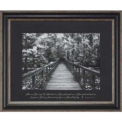 psalm 2545 christian framed wall art with classic pewter finish frame
