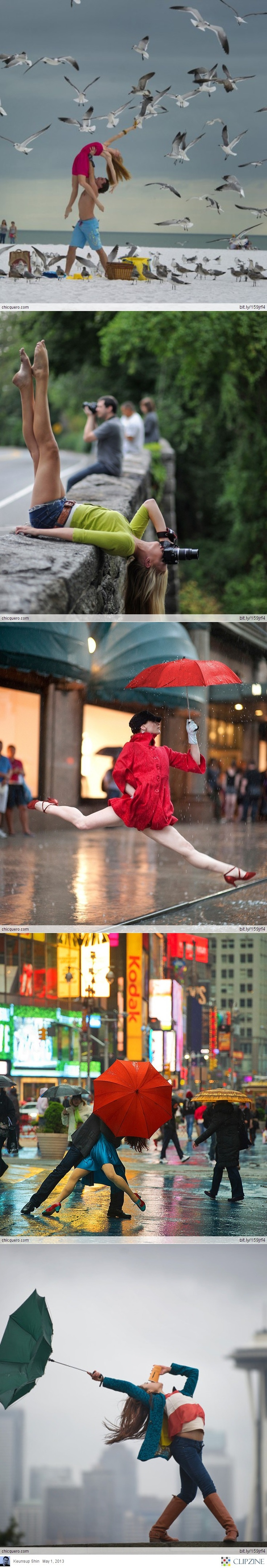 Dancers among us! Ive seen these before! They are amazing! I would love to work with this photographer!