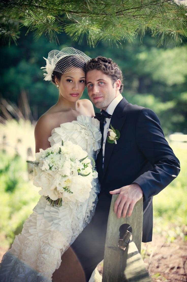 White dress by the shore - French Inspired Bridal Fashion Cage Veil Fashion Via Matty Chuah White Dress By