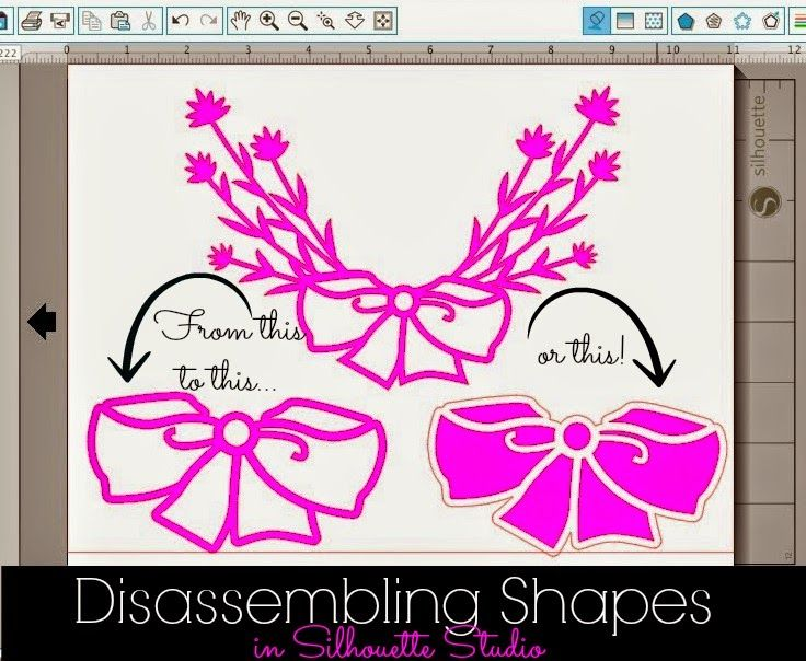 Disassembling Silhouette Shapes to Use Part of a Design