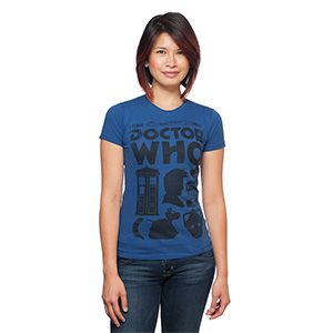 Doctor Who Tenth Doctor Icons Ladies' T-Shirt | ThinkGeek
