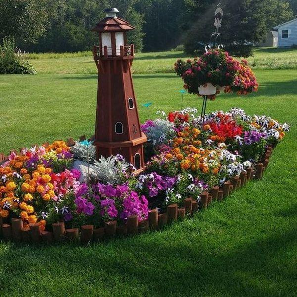 Magic Diy Spring Flower Arrangements That Give The Garden A Special Charm Flower Landscape Garden Yard Ideas Flower Garden Design