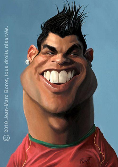 Caricatura de Cristiano Ronaldo - www.ideo-gene.net - Générateur d'Optimistes Pragmatiques