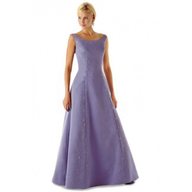 Captivating Taffeta A-line Strapless Spring Sleeveless Beading Empire Purple Special Occasion Dresses
