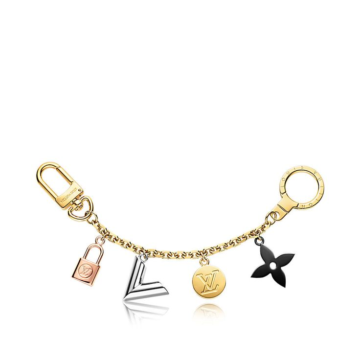 Discover Louis Vuitton Kaleido V Bag Chain: This bag chain combines Louis Vuitton's iconic signatures into a charm story. Its feminine shape is complemented by the association of diverse metal finishing.