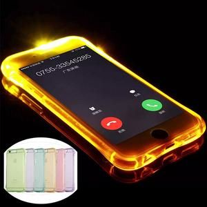 LED Flash Lighting Up Phone Case for Apple iPhone 5 5S SE 6 6S 7 Plus Remind Incoming Call Light - mootsepur