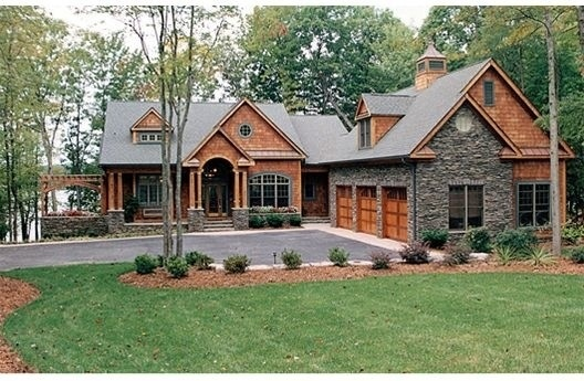 Love The Wood And Stone Home Exterior Pinterest