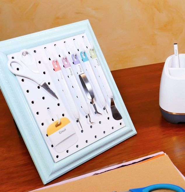 451 best home office organization images on pinterest for Diy pegboard craft organizer