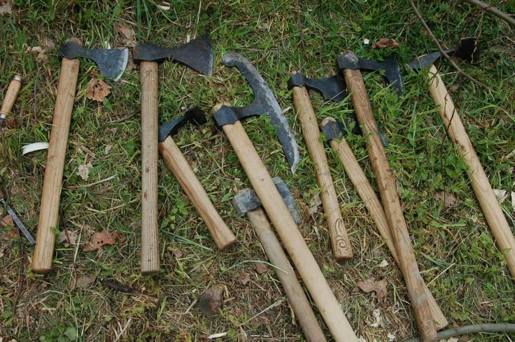 Axes were the most important tools for ship building. The secret of the viking ship's speed, lay in it's thin, flexible, overlapping, planks, which could only be produced with such axes. http://paganroots.tumblr.com/post/134738478317/%C4%8Das-vlk%C5%AF-2014-by-skjaldborg