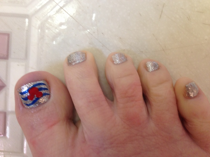 My disney cruise line logo toes for jan 2013 Wdw/dcl cruise. Thanks k k