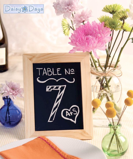 CHALK BOARD FRAMES FOR WEDDING TABLE NUMBERS, DECORATIONS