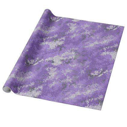Purple Digi Camo Wrapping Paper - paper gifts presents gift idea customize