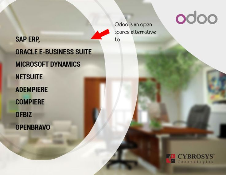 ODOO is an open source alternative to..