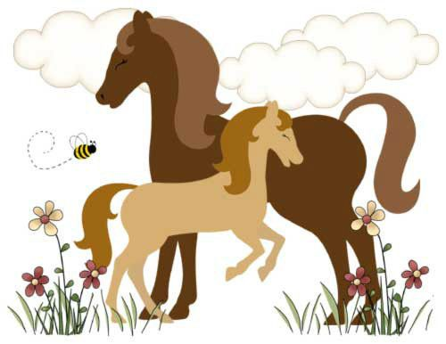 Horse Pony Wall Border Decals Barnyard Farm Cowgirl Baby Nursery Kids Room Decor | eBay