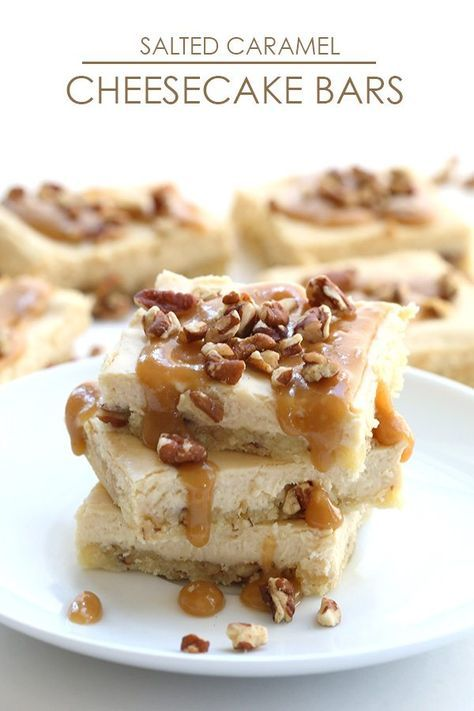 Creamy low carb cheesecake bars with the delicious flavours of salted caramel sauce and toasted pecans. So heavenly, you'd never know it's healthy! I take a lot of photos of food. I mean, a LOT of photos of food. It comes with the job, of course, but really, it's a disproportionate amount of food and not so much of the rest of my life. My kids, my husband, my family and friends. If a volcano were to erupt and Portland was buried Pompeii-style, archaeologists a few hundred years fr...