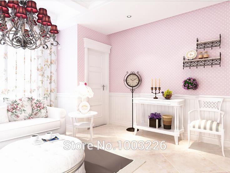3d обои современный мерцание небольшими горошек нетканые обои куклы дом спальня домашнего декора для детской комнаты обоями купить на AliExpress