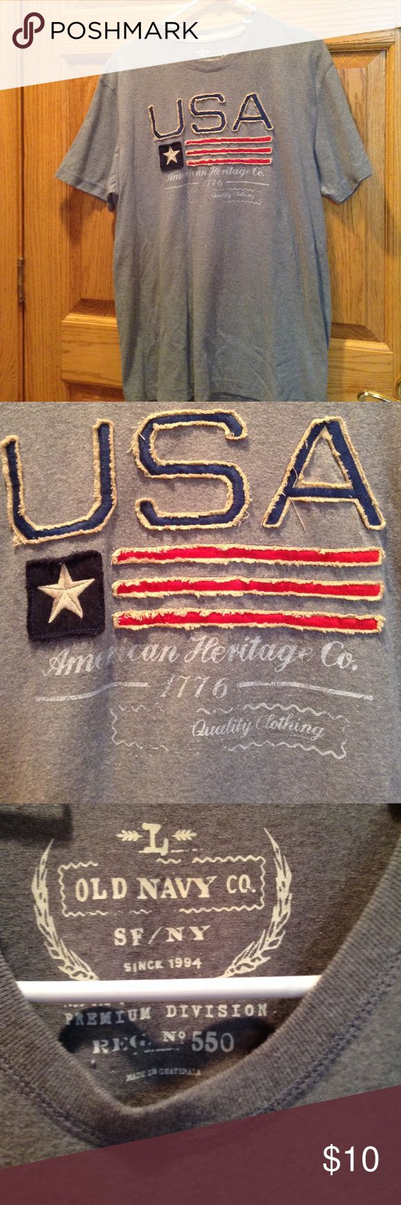 Old Navy USA tee Show off your red, white, and blue pride in this Old Navy USA tee-size Large. EUC. Old Navy Shirts Tees - Short Sleeve
